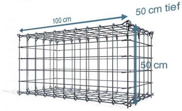 Steck Gabionen 100x50x50cm Maschenweite 10x10 cm