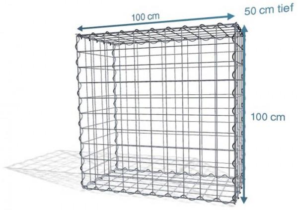 Spiral-Gabione 100x50x100cm, Maschenweite 10x10
