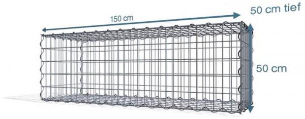 Spiralgabionen 150x50x50cm, Maschenweite: Front 5x10cm, Rest 10x10cm