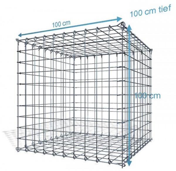 Steck Gabione 100x100x100cm, Maschenweite 10x10