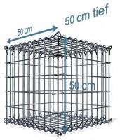 S-Gabione, 50x50x50cm, Maschenweite 10x10cm