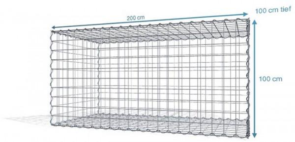 Spiral-Gabione 200x100x100cm, Maschenweite 10x10