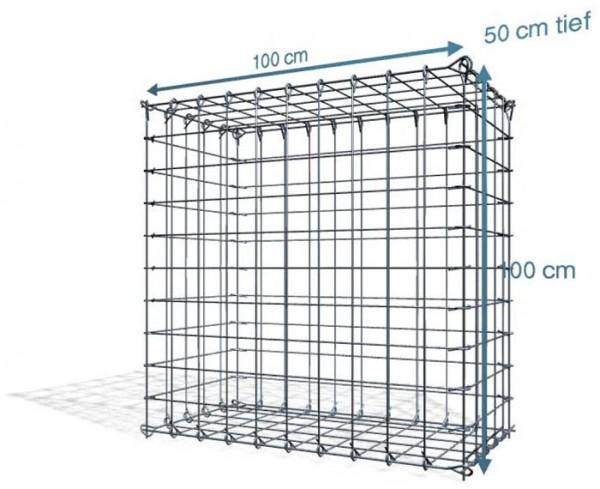 Steck Gabionen 100x50x100cm, Maschenweite 10x10