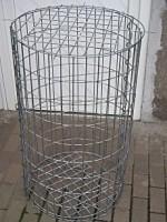 Gabione Rund 1 m hoch, 1 m im Durchmesser, Maschenweite: 5x10 cm