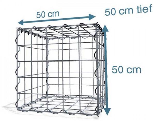 Spiralgabione 50x50x50 cm, Maschenweite 10x10 cm