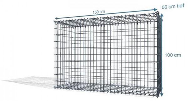 S-Gabione, 150x50x100cm, Maschenweite 10x10cm