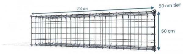 Steck Gabionen  200x50x50cm, Maschenweite 10x10