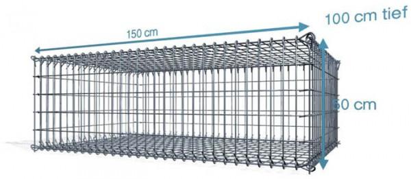 S-Gabione, 150x100x50cm, Maschenweite 10x10cm
