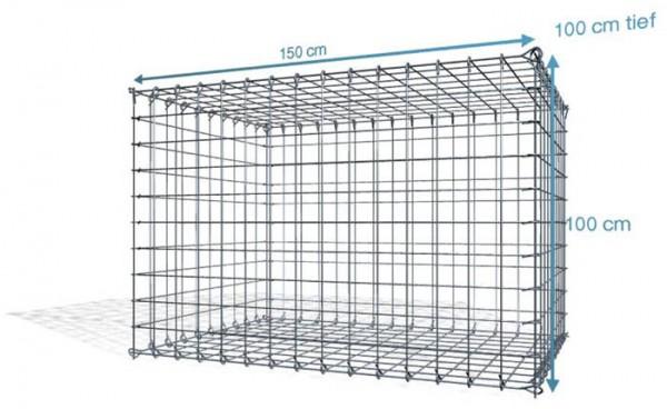Steck Gabionen 150x100x100cm, Maschenweite 10x10