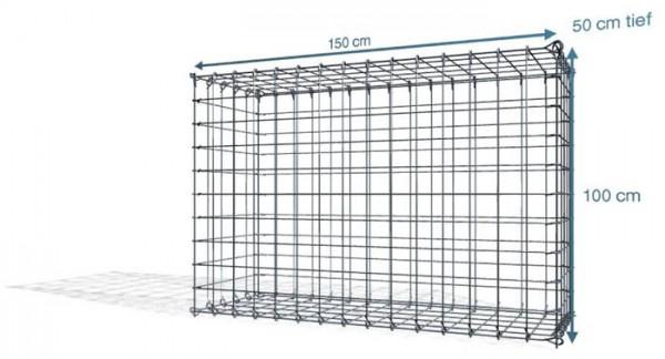 Steck Gabionen 150x50x100cm, Maschenweite 10x10