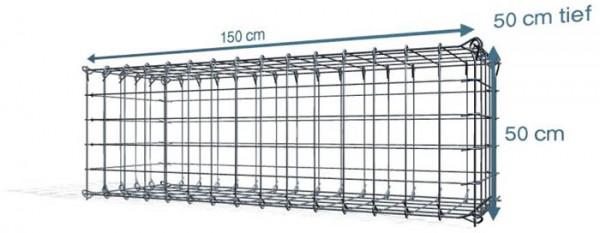 Steck Gabionen 150x50x50cm, Maschenweite 10x10 cm