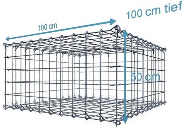 Steck Gabionen 100x100x50cm, Maschenweite 10x10