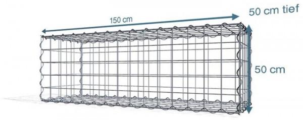 Spiral-Gabione 150x50x50cm, Maschenweite 10x10