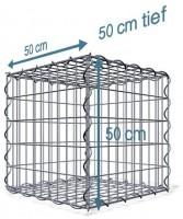 Spiral-Gabione 50x50x50 cm, Maschenweite: 5x10
