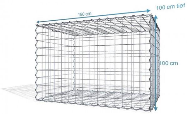 Spiral-Gabione 150x100x100cm, Maschenweite 10x10