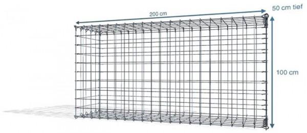 Steck Gabionen 200x50x100cm, Maschenweite 10x10