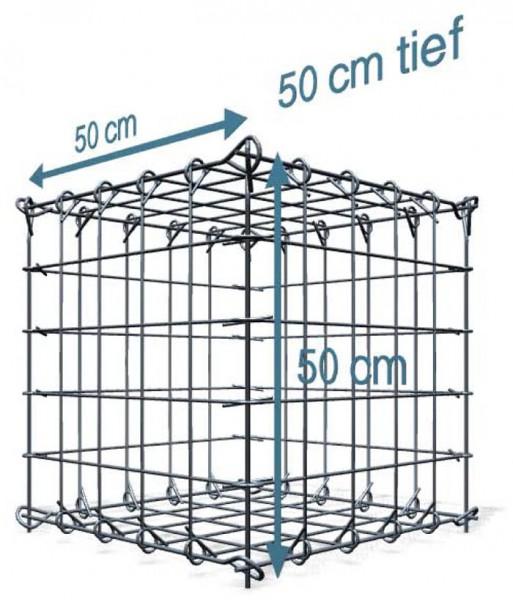 Steck Gabionen 50x50x50cm, Maschenweite 10x10