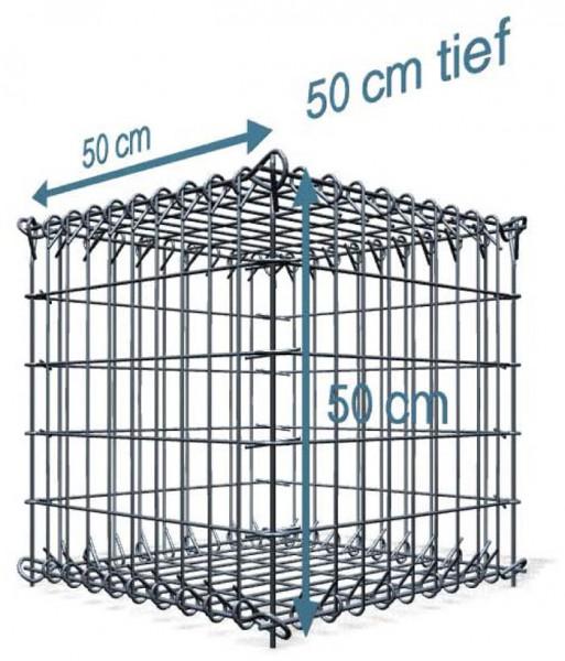 Steck Gabionen 50x50x50cm, 4,5 mm, Front 5x10cm, Rest 10x10cm