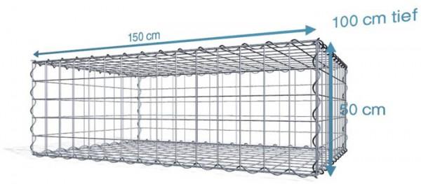 Spiral-Gabione 150x100x50cm, Maschenweite 10x10